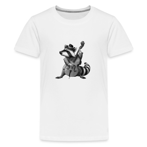 Racoon Musician - Teenager Premium T-Shirt