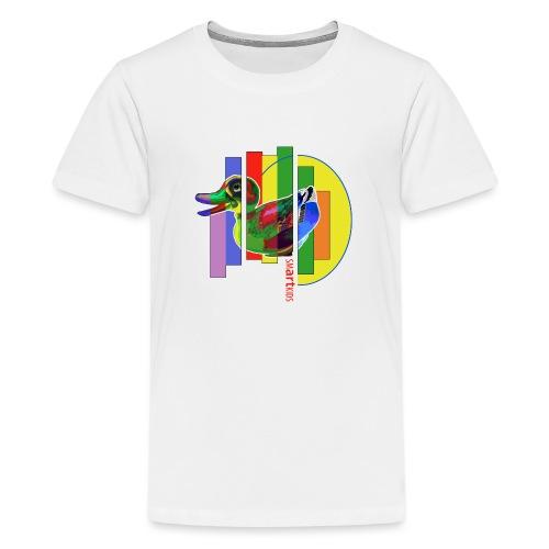 smARTkids - Gutsy Duck - Teenage Premium T-Shirt