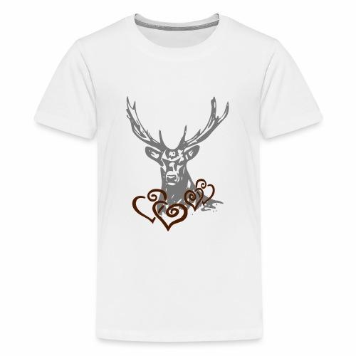 Hirschherz - Teenager Premium T-Shirt