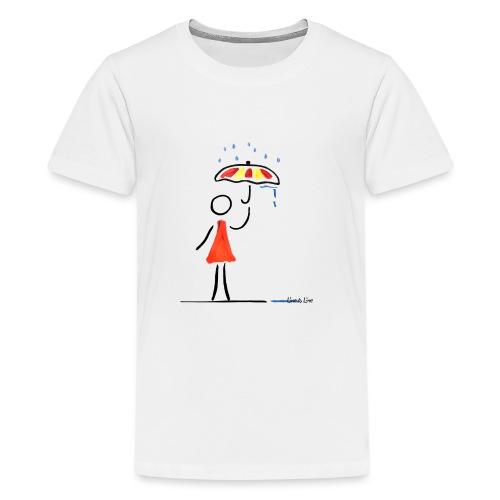 schönes Regenwetter - Teenager Premium T-Shirt