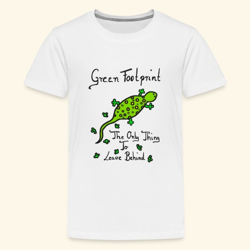Gecko Green Footprint - Teenager Premium T-Shirt