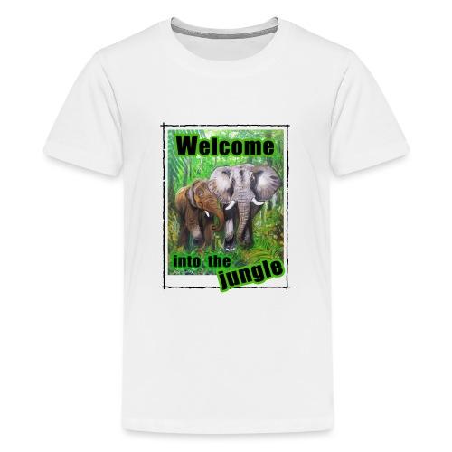 Willkommen im Dschungel - Teenager Premium T-Shirt