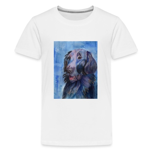 flatcoated retriever - watercolor - Teenager premium T-shirt