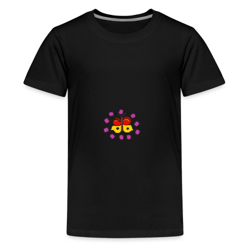 Butterfly colorful - Teenage Premium T-Shirt