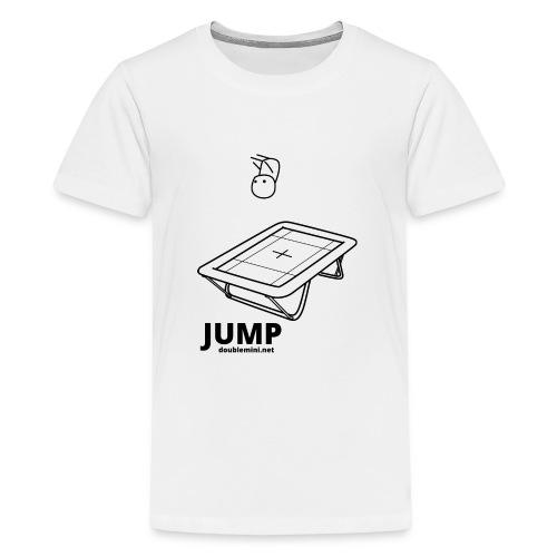 Trampoline JUMP shirt white - Teenage Premium T-Shirt