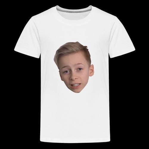 gurkis ansikte - Premium-T-shirt tonåring