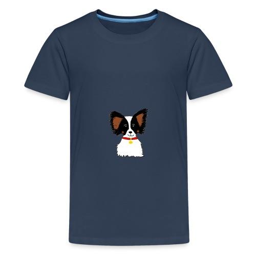 Papillon dog - Teenage Premium T-Shirt