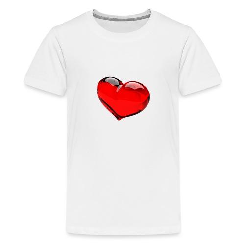 serce 3D - Koszulka młodzieżowa Premium