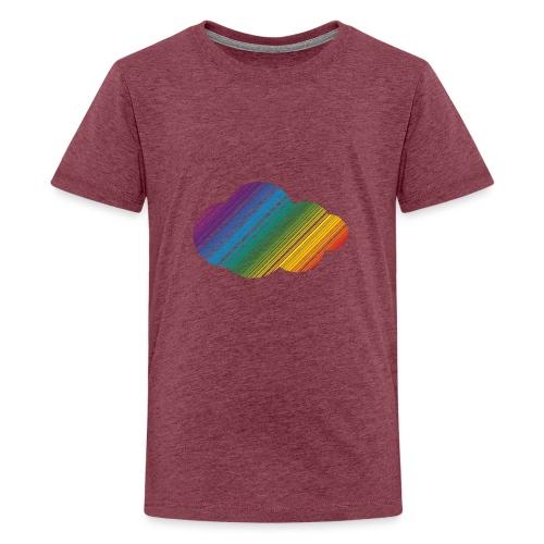 Regnbågsmoln - Premium-T-shirt tonåring