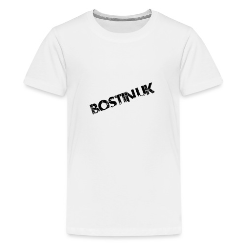 Bostin uk white - Teenage Premium T-Shirt