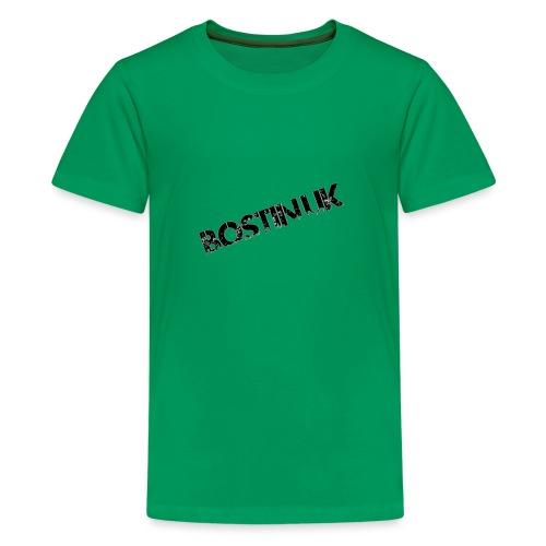Bostin uk white - Teenage Premium T-Shirt