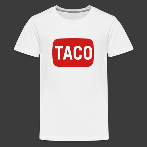 Taco Karsten Youtube Logo 2 - Teenager premium T-shirt