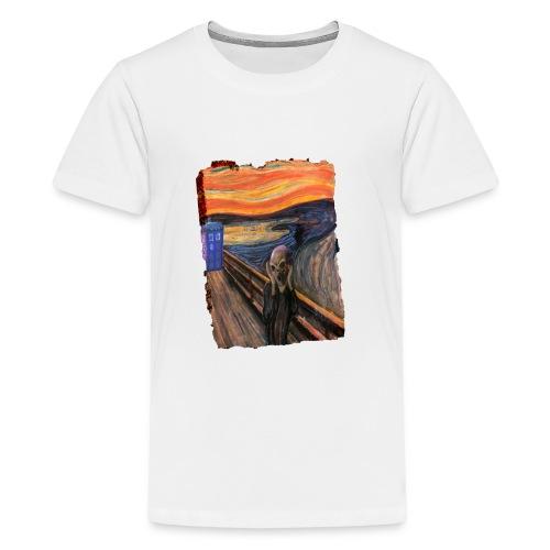 Screaming Tardis - Teenage Premium T-Shirt