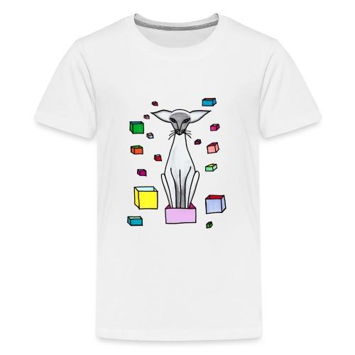 Siames i låda - Premium-T-shirt tonåring