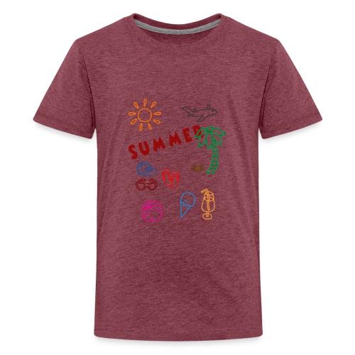 Summer - Teinien premium t-paita