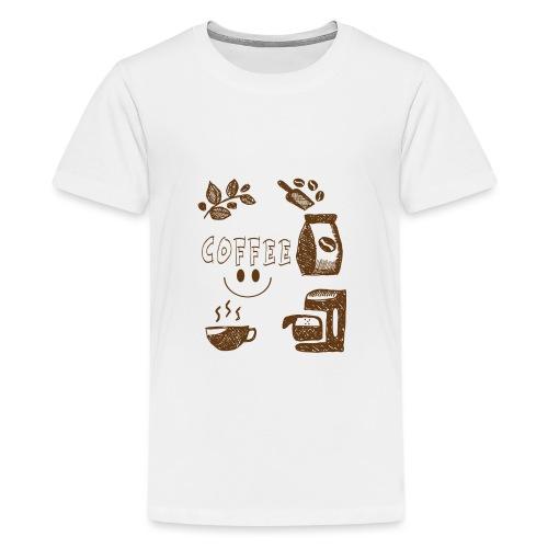 Coffee - Teinien premium t-paita