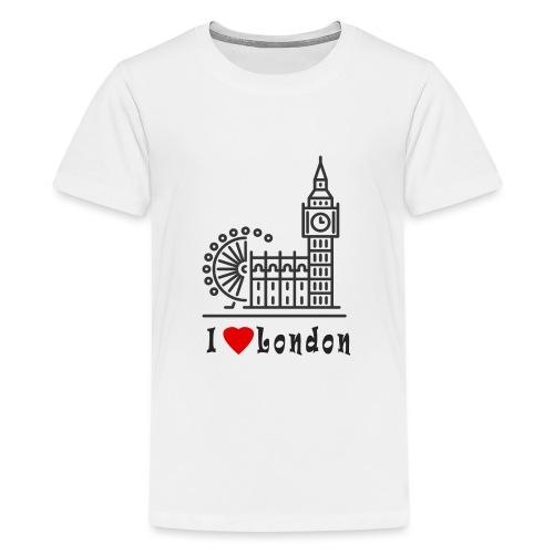 London - Teinien premium t-paita