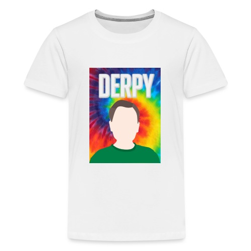 DerpyXbox Logo with Name - Teenage Premium T-Shirt
