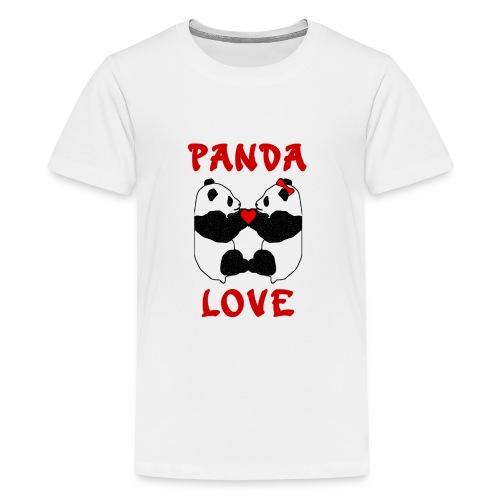 Panda Love - Teenage Premium T-Shirt