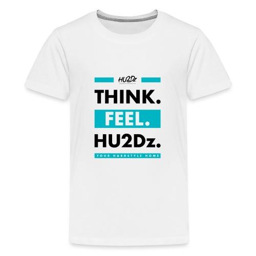THINK FEEL HU2Dz Black White Shirt - Teenage Premium T-Shirt