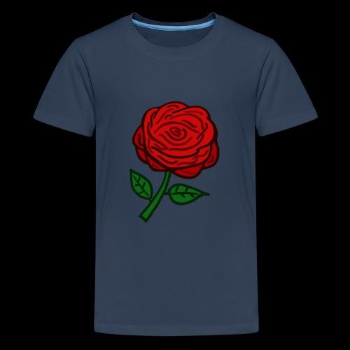 Rote Rose - Teenager Premium T-Shirt