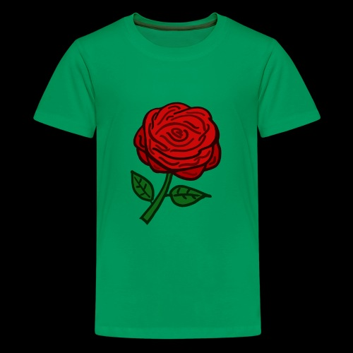Rote Rose - Teenager Premium T-Shirt