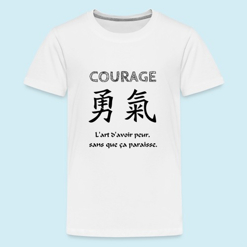 Courage - T-shirt Premium Ado