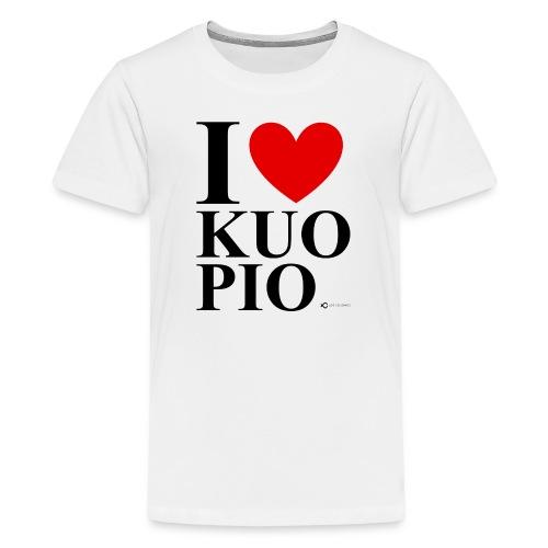 I LOVE KUOPIO ORIGINAL (musta) - Teinien premium t-paita