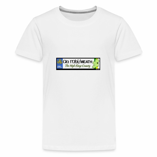 CO. MEATH, IRELAND: licence plate tag style decal - Teenage Premium T-Shirt
