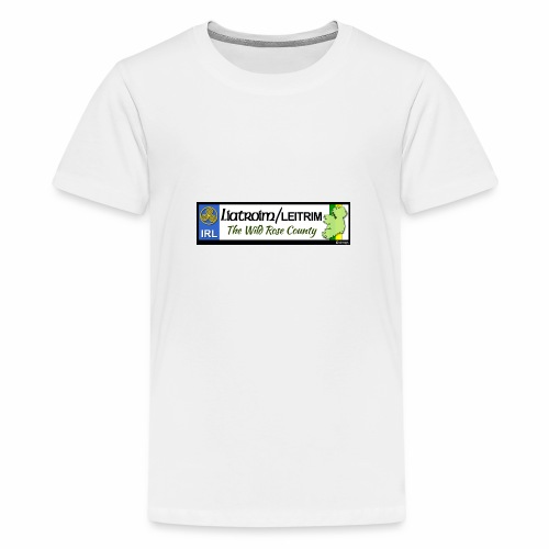 LEITRIM, IRELAND: licence plate tag style decal eu - Teenage Premium T-Shirt