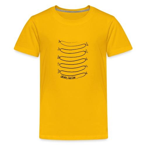 Wiener Illusion (schwarz auf weiß) - Teenager Premium T-Shirt