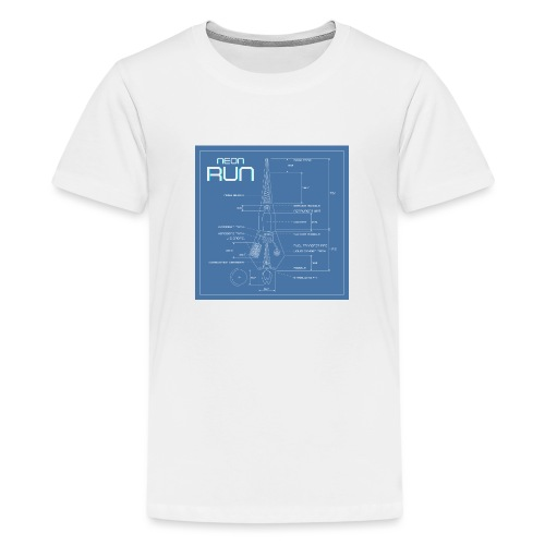 NeonRun blueprint - Teenager Premium T-shirt