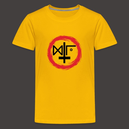 Logo Gu Croix Noir - T-shirt Premium Ado