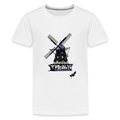 Windmill by BlackenedMoonArts, with logo - Teenager premium T-shirt