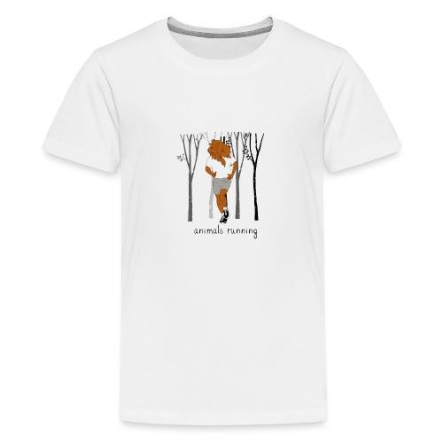 Lion running - T-shirt Premium Ado