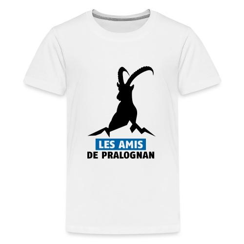 Logo Les Amis de Pralo grand noir - T-shirt Premium Ado