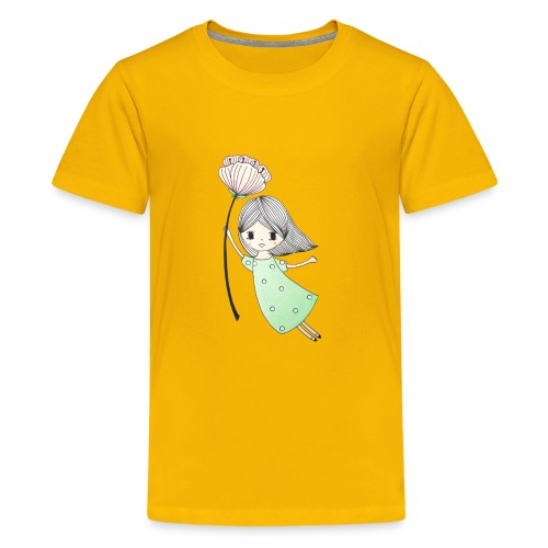 meisje met bloem - Teenager Premium T-shirt