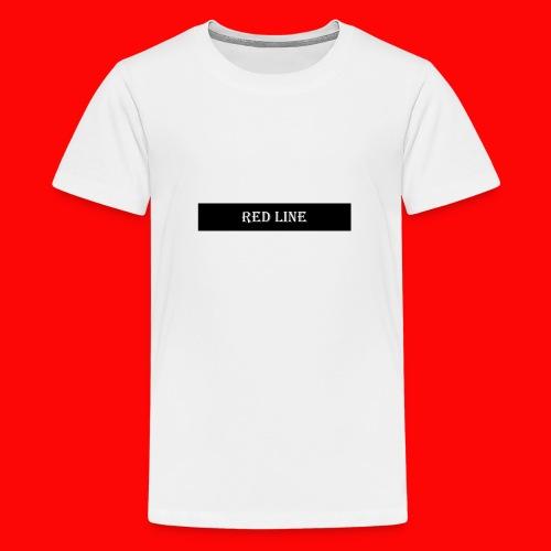 Text Red line - Premium-T-shirt tonåring