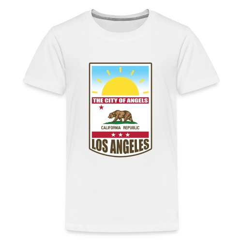 Los Angeles - California Republic - Teenage Premium T-Shirt
