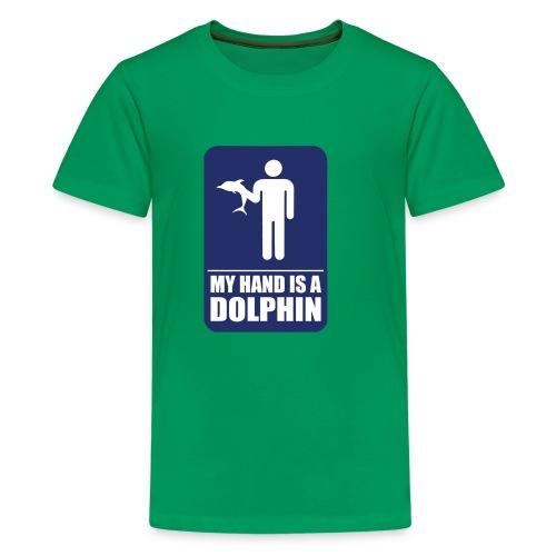 Dolphin Hand - Teenage Premium T-Shirt