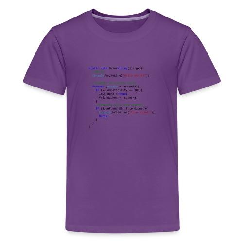Love seen by a C# programmer - Maglietta Premium per ragazzi
