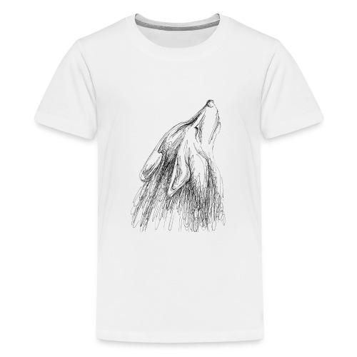 Heulender Wolf - Teenager Premium T-Shirt