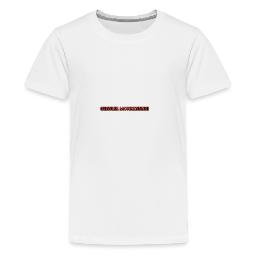 Red Oliwier Mokrzynski logo - Teenage Premium T-Shirt