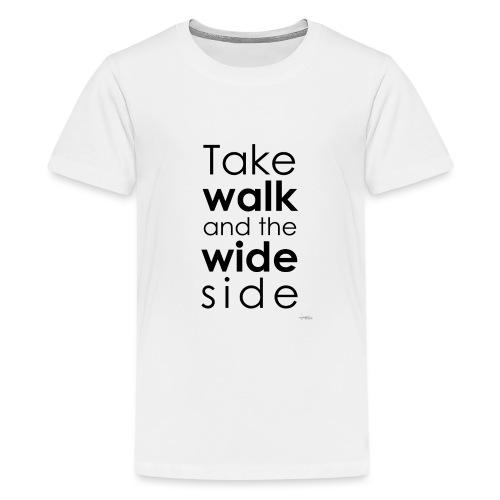 LOU-REDD-walk-black - Teenage Premium T-Shirt