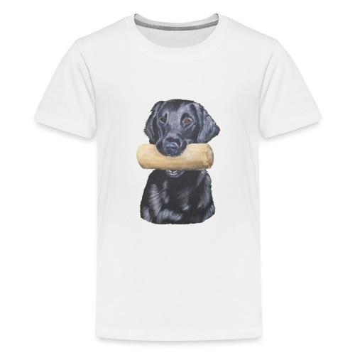 flatcoated retriever Dumbbell - Teenager premium T-shirt