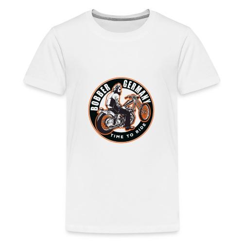 Bobber Germany - Chopper Motorrad Racing HD Custom - Teenager Premium T-Shirt