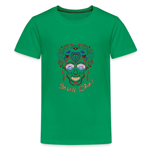 Skull Tattoo Art - Teenage Premium T-Shirt