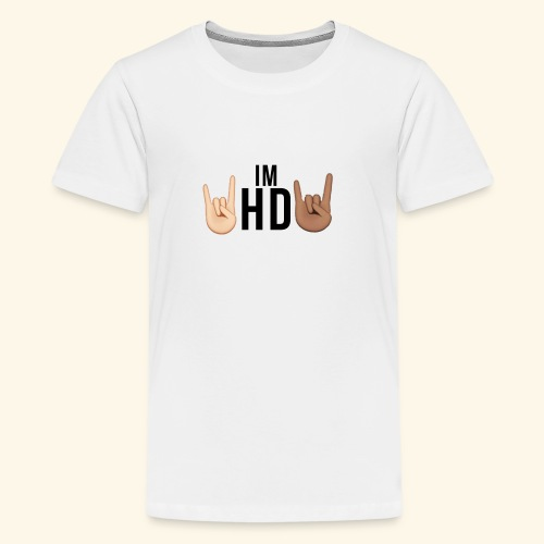 Im hd black logo - Teenage Premium T-Shirt