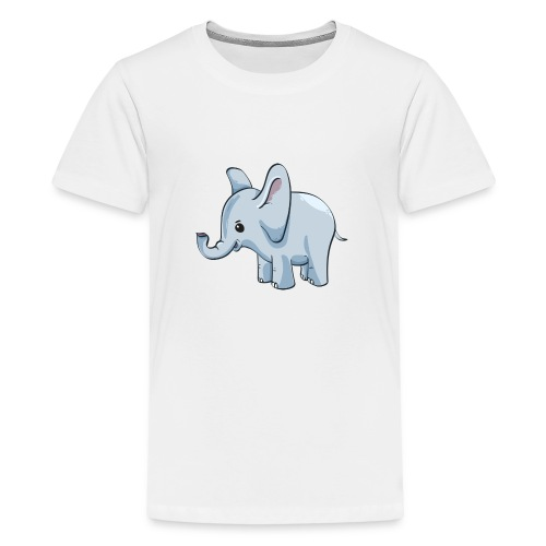 Kindershirt bedrucken günstig Elefant - Teenager Premium T-Shirt