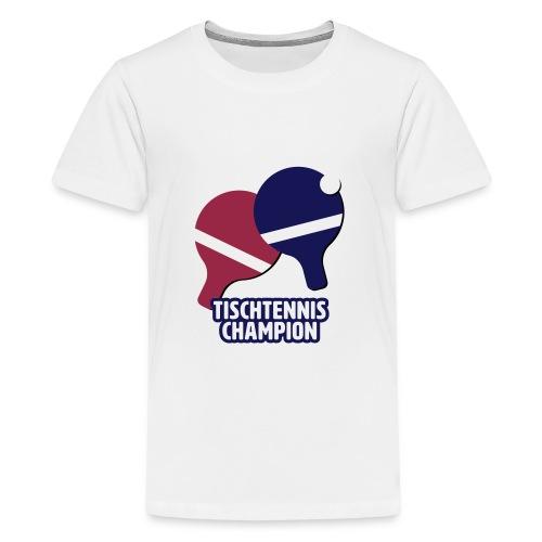 Tischtennis Champion Ping Pong - Teenager Premium T-Shirt